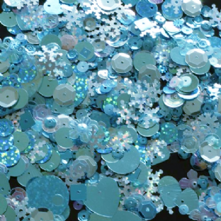 Mixed Turquoise Sequins x 20g